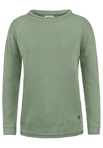 DESIRES Rolli Damen Winter Strickpullover Troyer Grobstrick Pullover, Größe:M, Farbe:Slate Grey (3579)