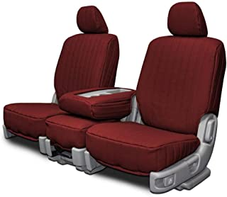 Custom Fit Seat Covers for Datsun 280ZX Front Low Back Seats - Burgundy Vinyl Fabric