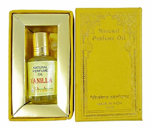 Chakra Natural Perfume Vanilla Oil Fragrance 100% Pure Natural Perfume Oil 10ml by Chakra