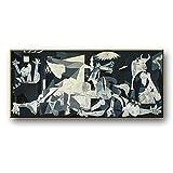 El famoso arte de la pintura al óleo de Picasso Guernica.Cuadros abstractos modernos copiados sobre lienzo.Láminas y pósters para decoración de paredes 50x105cm (20x41in) Con Marco