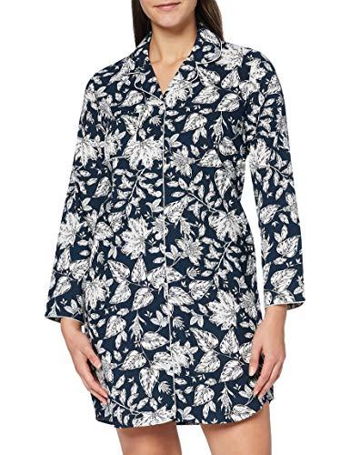 Seidensticker Damen Women Sleepshirt, Long Sleeve Nachthemd, Nachtblau, 044