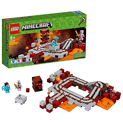 Lego Minecraft - la Ferrovia del Nether, Multicolore, 21130
