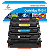 True Image Compatible Toner Cartridge Replacement for Canon 046 046H CRG-046H Color ImageCLASS MF733Cdw MF731Cdw MF735Cdw LBP654Cdw MF731 MF733 Printer Ink (Black Cyan Yellow Magenta, 4-Pack)
