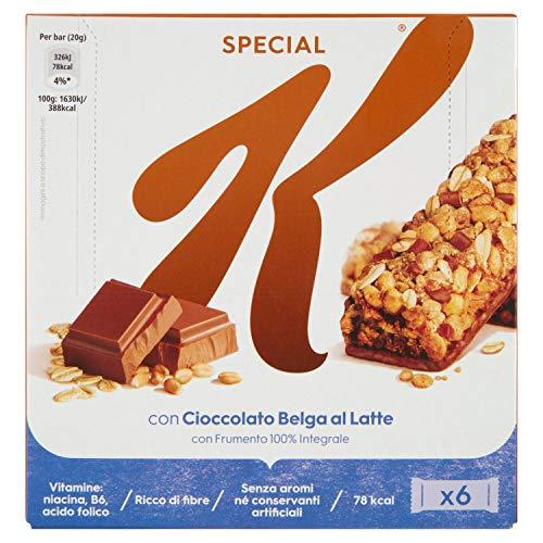 Kellogg's Special K Barrette Cioccolato Belga Al Latte 6x20g., 120g
