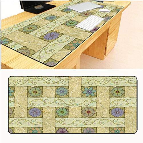 HONGHUAHUI gele bloem tapijt siliconen Gaming grote grootte muis matten 300X800X2mm A04