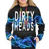 Photo de Actuallyhome Sweat à Capuche pour Femme Pull entièrement imprimé The Dirty Heads Sweat-Shirts Actifs en Jersey pour Fille avec Poches