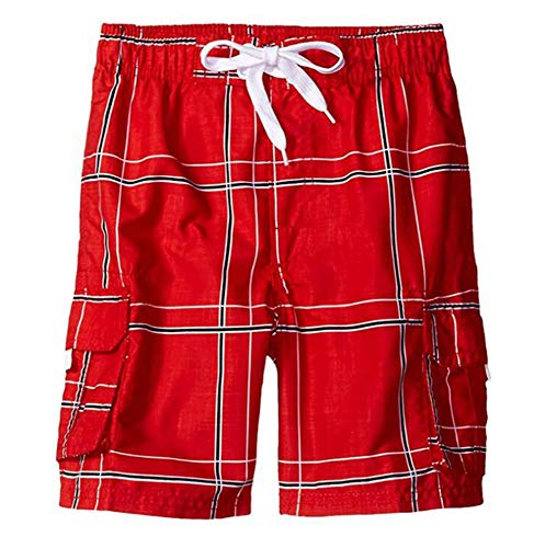 Heren geruite shorts Lounge Vrijetijdskleding Zomerzwemshorts met zak