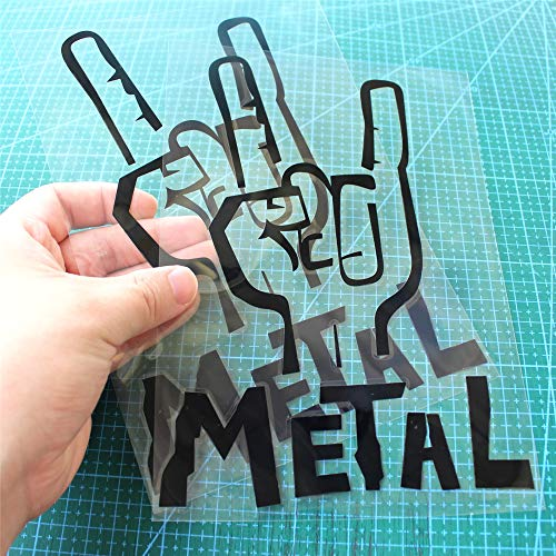 2PCS 7.8'X5.6' Metal Heavy Music Rock ON Funny Sticker CAR PVC Vinyl Trucks Decals Windows Body Adhesive Decoration Accessories