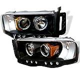 Spyder PRO-YD-DR02-HL-BK Dodge Ram Halo LED Black Projector Headlights Assembly (Sold in Pairs)