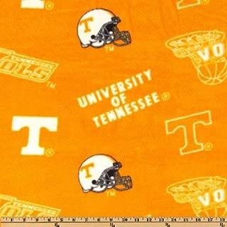 Sykel Enterprises Collegiate Fleece University of Tennessee Tossed Orange/White Fabric By The Yard