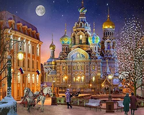 Rompecabezas de Madera, Rompecabezas de 2000 Piezas, Castillo de Noche Bricolaje, Juguetes educativos para niños, Juegos, Regalos de cumpleaños de Navidad 105x75cm