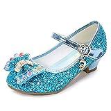 [BININBOX] ドレスシューズ 女の子 子供靴 フォーマルシューズ (ブルー, 38/23.5cm)