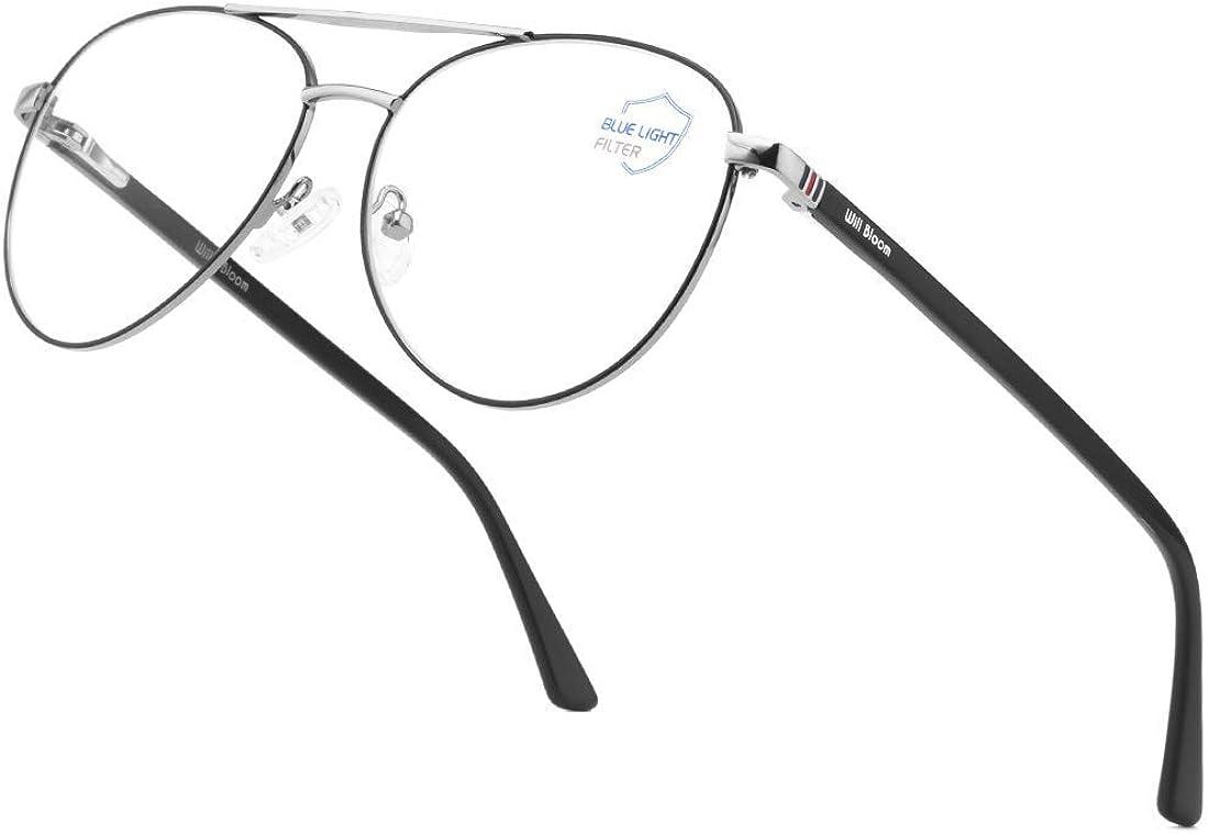 Aviator Don't miss the campaign Blue Bombing new work Light Blocking Glasses Women Fra Classic Men Metal