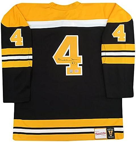 Generic Bobby Orr autographe Noir Bruins de Boston Mitchell & Ness Jersey