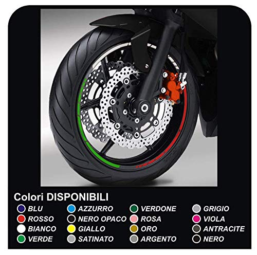 Pegatinas Llantas motocicletas tiras adhesivas tricolor llantas borde pegatinas GP tricolor Italia pegatinas llantas moto (OTRO COLOR (COMUNICAR))