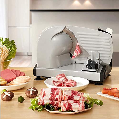Cortadora de Carne eléctrica, cortadora de Alimentos de Acero Inoxidable con Hoja...
