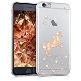 kwmobile Hülle kompatibel mit Apple iPhone 6 / 6S - Handyhülle - Handy Case Einhorn Rosegold Transparent