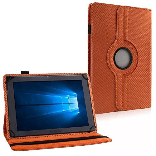 UC-Express Tablet Tasche Hülle für Telekom Puls Carbon-Optik Schutzhülle Cover Universal NAUCI, Farben:Bronze
