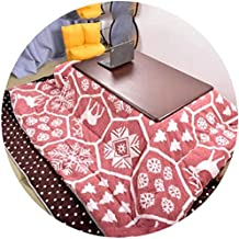 TANKKWEQ Kotatsu Table with Heater and Blanket Tables Coffee Japanese Kotatsu Tatami Bay Window Low Multifunctional Kotats...