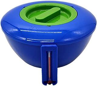 Caoguo Zwembadtablet-dispenser met thermometer, intrekbare chloordrijver voor zwembad, spa, hot tub