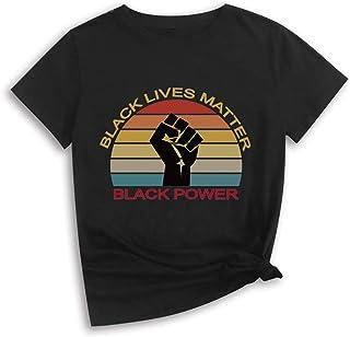 メンズとレディースのBlack Lives Matter BLM Tシャツ、抗議と記念のためのユニセックスOネック半袖LGBTQプリントTシャツ,黒,XL