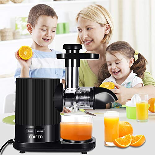 Frifer Juicer Machines, Centrifugal Juicer Extractor for Fruit and Vegetables, 800W Cold Press Slow Masticating Juicer Squeezer Machine, Citrus Juicer Easy to Clean, Electric Juicer BPA Free