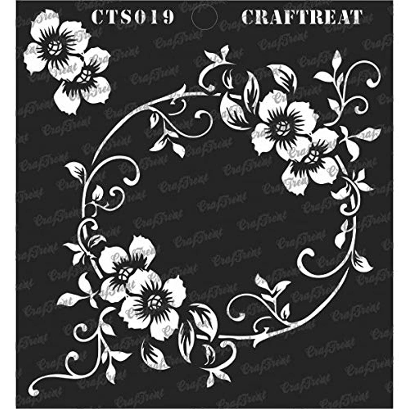CrafTreat Stencil - Flourish Circle   Reusable Painting Template for Journal, Notebook, Home Decor, Crafting, DIY Albums, Scrapbook and Printing on Paper, Floor, Wall, Tile, Fabric, Wood 6