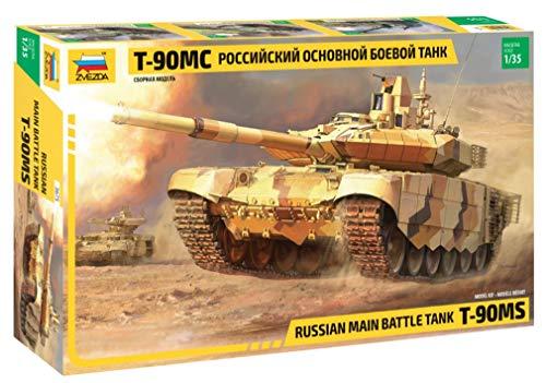 ZVEZDA 500783675 - 1:35 Russian main battle tank, Modellbau, Bausatz, Standmodellbau, Hobby, Basteln, Plastikbausatz