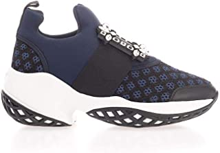 Roger Vivier Luxury Fashion Womens RVW50624180KZP4126 Blue Slip On Sneakers |