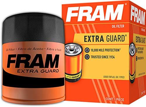 Fram PH7317 Extra Guard 10K Mile Change Interval Spin-On Oil Filter, black