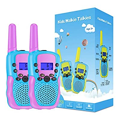Selieve Toys for 3-14 Year Old Children's, Walkie Talkies for Kids 22 Channels 2 Way Radio Toy with Backlit LCD Flashlight, 3 Miles Range for Outside, Camping, Hiking