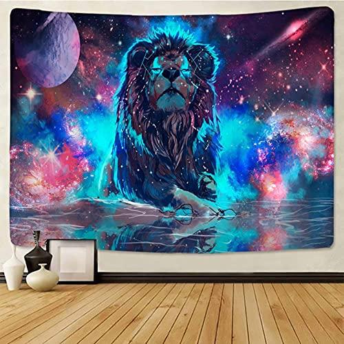 León estry animales de pastizales africanos Cartoonwall colgante toalla de playa manta de poliéster fina yoga-gt183-2,95x70cm