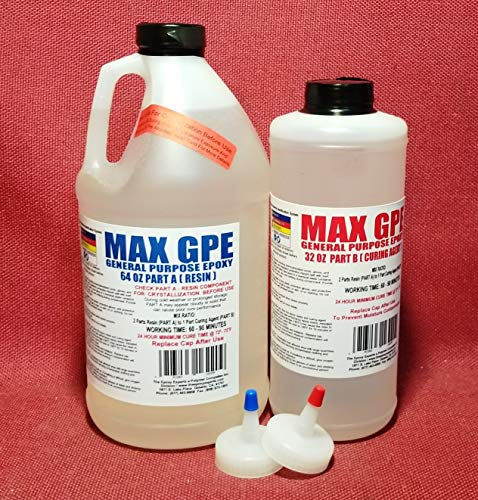 MAX GPE -GENERAL PURPOSE GRADE Epoxy Resin System - 3/4 Gallon Kit - RV Repair Panel Delamination Injectable Glue, Wood Sealing And Waterproofing Resin System, Low Viscosity -Thin Consistency, Long Working Time