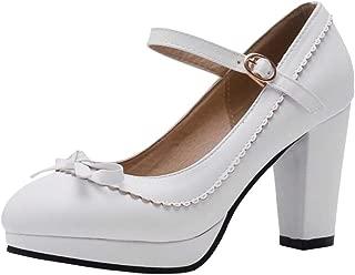 RAZAMAZA Women Classic Court Shoes Block Heel