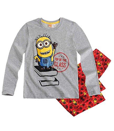 Minions Despicable Me Jungen Pyjama Schlafanzug 2016 Kollektion (128, grau)