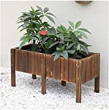 CDFCB Raised Garden Bed Wooden elevated garden bed for planting flowers natural cedar wood frame with flower bed easy to assemble (Color : F Size : 80×40cm/31.5×15.74in)-80×40cm/31.5×15.74in_E