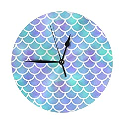 Oceana Regular Modern Silent Wall Clock for Home Kitchen and Office School Decoration 9.8 Inch Battery Operated Retro Fashion Style
