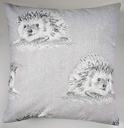 Cushion Cover in Grey Hedgehog Brushed Cotton 16'