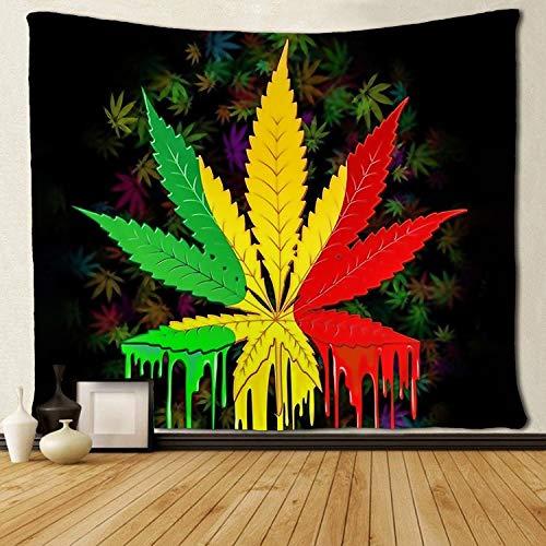 SARA NELL Tapestry Reggae Rasta Marijuana Leaf Weed Tapestries Wall Hanging Throw Tablecloth 50X60 Inches Bedroom Living Room Dorm Room (6070 inch, Marijuana Leaf Weed)