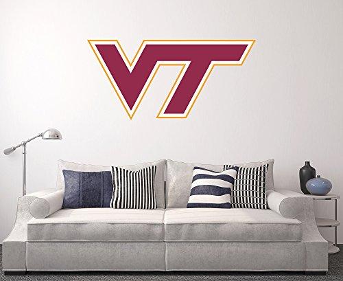 West Mountain Virginia Tech Hokies Wall Decal Home Decor Art NCAA Team Sticker