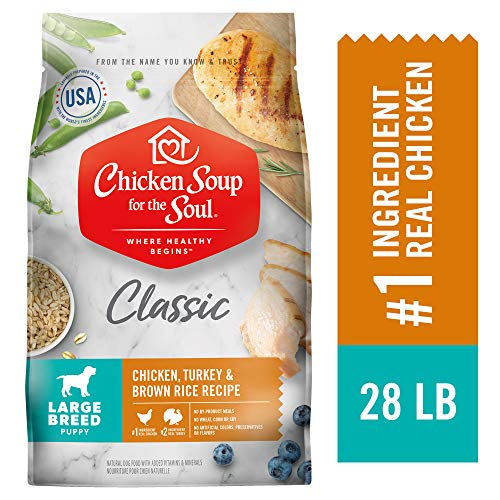 Chicken Soup for the Soul Large Breed Puppy Food- Chicken, 28 Pound