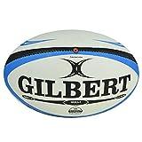Gilbert Omega - Balón Rugby, Color Blanco/Azul, Talla 5