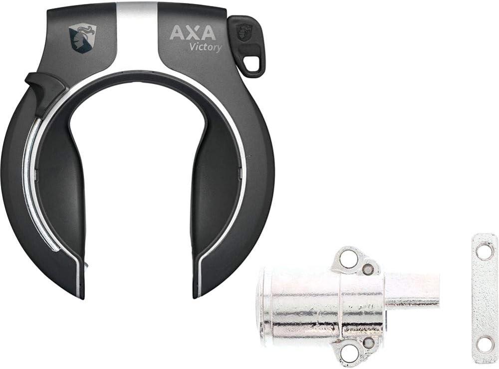 AXA Rahmen-+Akkuschloss-Set Victory f. Powertube Akkus f. Bosch 3 Systeme