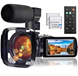 Video Camera Camcorder with Microphone, Full HD 1080P 24MP 30FPS FamBrow Digital YouTube...