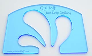 Feather Quilting Template (Blue)