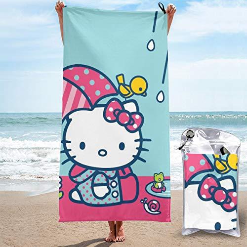 JJKKFG-H Hello Kitty Toalla de secado rápido, ligera, para toallas de baño suaves para piscina, natación, viajes, playa, silla de 27.5 pulgadas X55