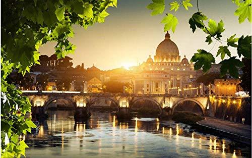 Puzzle da 1000 Pezzi per Adulti Fai-da-Te Fiume Tevere in Vaticano Puzzle per Regalo di Natale Amico di Bambini