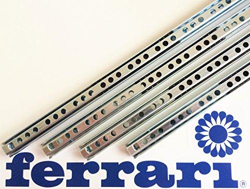 Ferrari 5 Paar SCHUBLADENAUSZUG 17 mm LÄNGE: 342 mm KUGELFÜHRUNG SCHUBLADENSCHIENE TEILAUSZUG