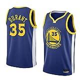 K&P Sports Camiseta Kevin Durant Golden State Warriors Azul,Camiseta Kevin Durant Icon Edición Swingman (Azul, L)