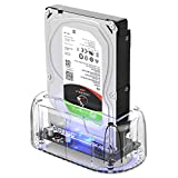 ORICO Hard Drive Docking Station, USB3.1 Gen2 10Gbps to SATA 2.5/3.5 inch SSD HDD Docking Station Laptop External Hard Drive Enclosure, Support 16TB